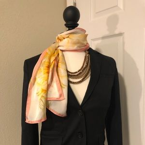 Sunflower print scarf